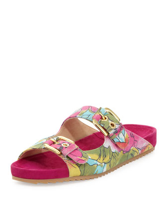 Freely Floral-Print Sandal, Sunflower