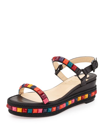Cataclou Studded Platform Sandal, Black Multi