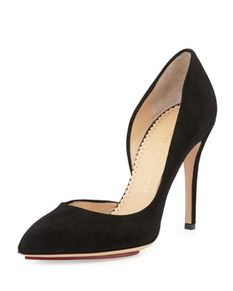 The Lady is a Vamp Calf Nappa Leather Pump, Black
