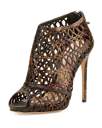 Python Caged Sandal, Sunset/Multi
