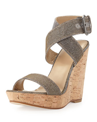 Xray Glitter Cork Wedge, Pyrite (Made to Order)