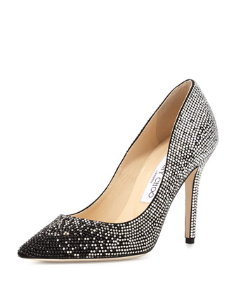 Tania Crystal Degrade Pump, Black