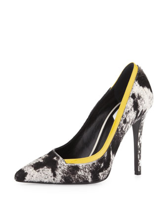 Animal-Print Calf Hair Pump