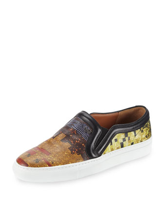 Multi-Print Slip-On Skate Shoe