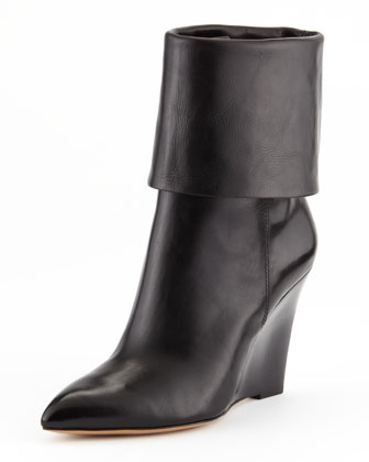 Paycen Fold-Over Wedge Boot