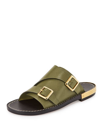 Double-Monk Slide Sandal