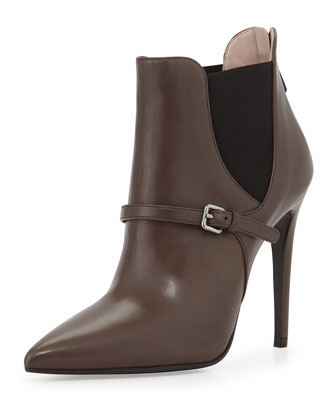 Pointed Elastic-Side Ankle Boot