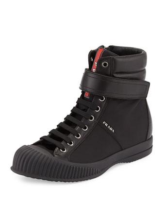 Nylon Grip-Strap Sneaker