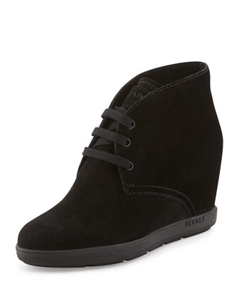 Suede Wedge Desert Boot