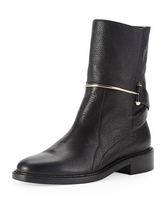 Metal-Bit Ankle Boot