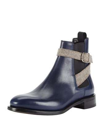 Flat Buckled Flat Chelsea Boot