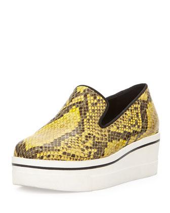 Chunky Snake-Print Skate Shoe