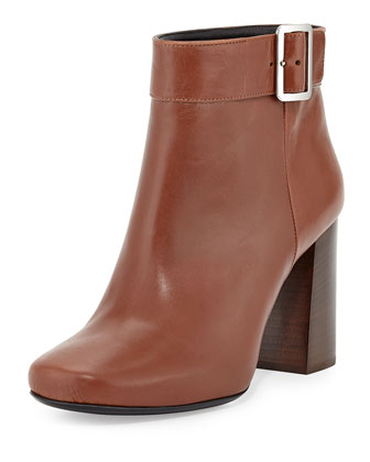 Chunky Top-Buckle Bootie