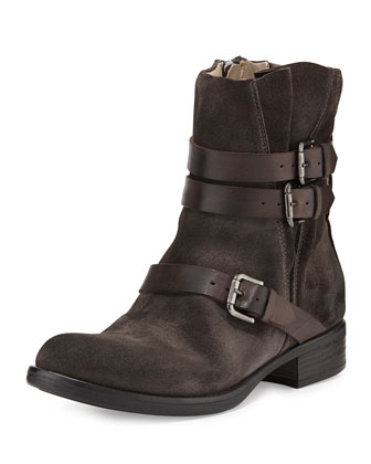 Triumvirate Suede Ankle Boot, Anthracite