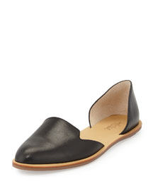 Leather d'Orsay Flat, Black