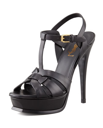 Tribute Platform Sandal, Black