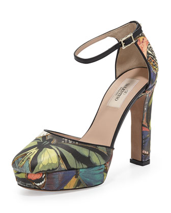 Butterfly Ankle-Wrap Platform Pump