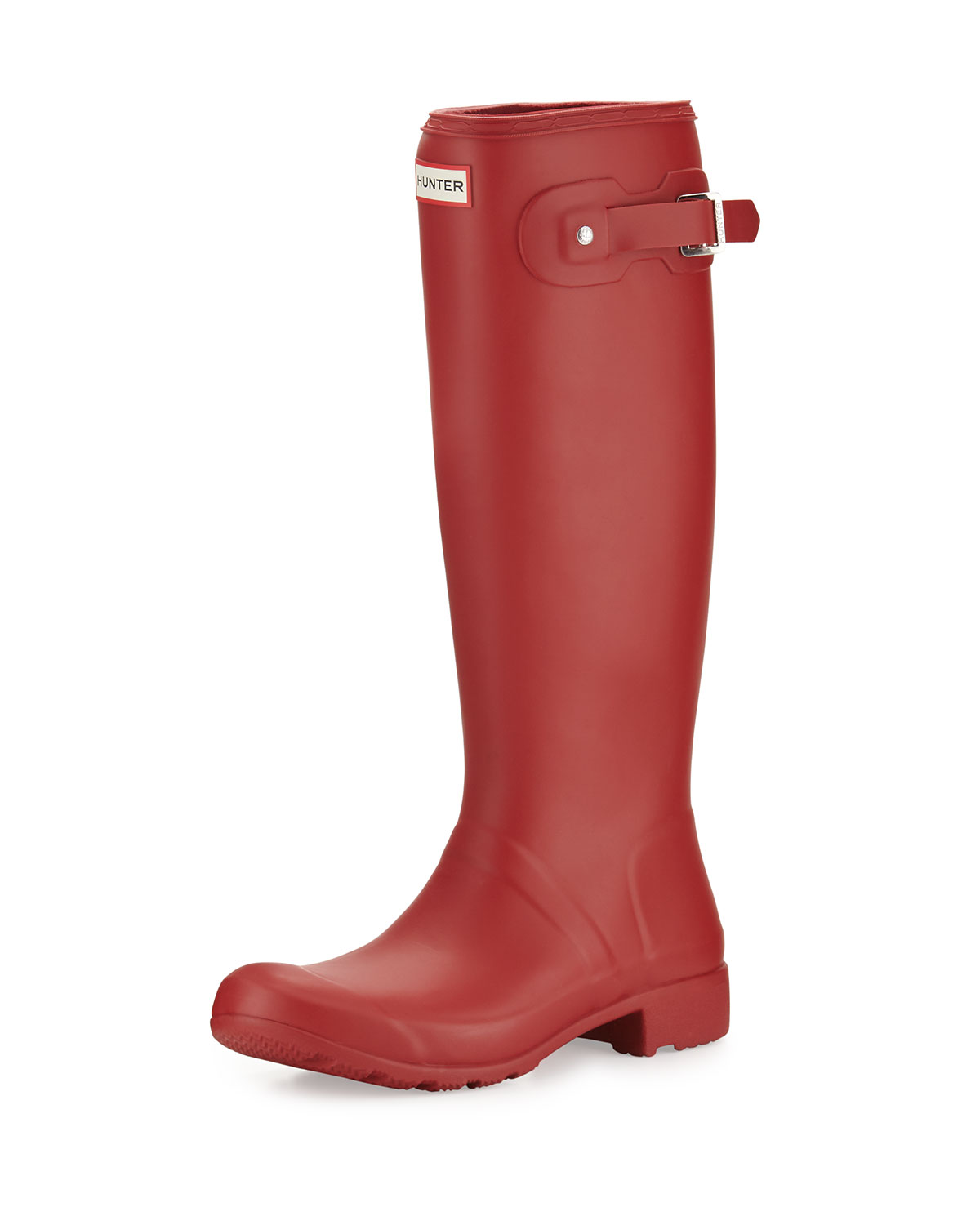 Hunter Boot Original Tour Welly Boot, Military Red, Boy's, Size: 5B