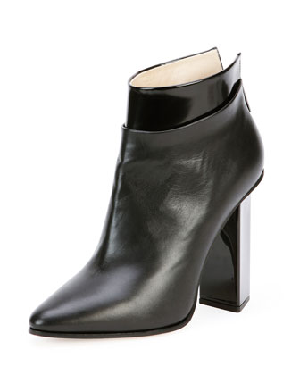 Legion Leather Point-Toe Bootie, Black