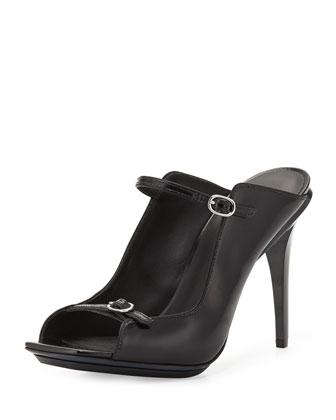 Aurora Mule Slide Sandal, Black