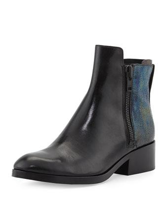 Alexa Petrol Ankle Boot