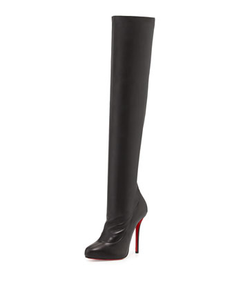Sempre Monica Over-the-Knee Red Sole Boot