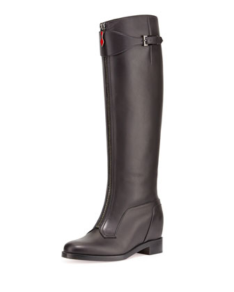 Foresta Zip-Front Wedge Boot