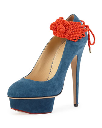 Eternally Dolly Suede Platform Pump, Teal