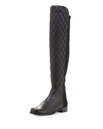 Quiltboot 50/50 Over-the-Knee Boot, Black (Made to Order)