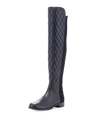 Quiltboot 50/50 Over-the-Knee Boot, Navy (Made to Order)