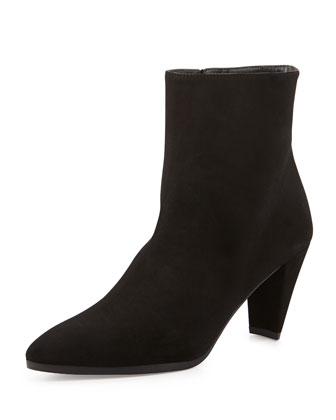 Apollo Suede Ankle Boot, Black