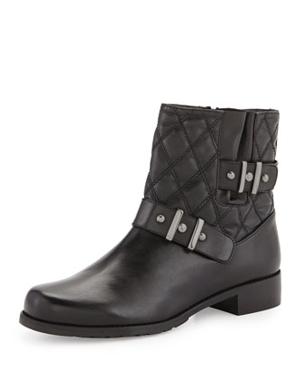 Download Quilted Ankle Boot, Black