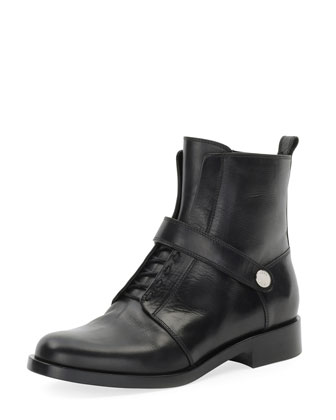 Diana Leather Ranger Boot, Nero