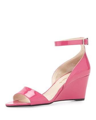 Patent Demi-Wedge Sandal, Peonia