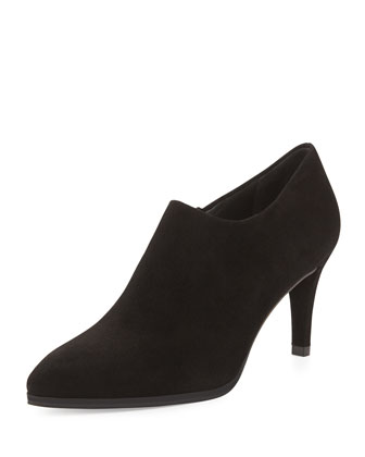 Standin Suede Ankle Boot, Black