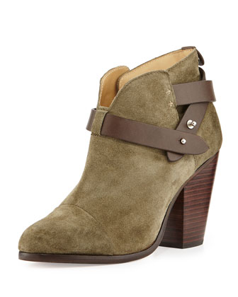Harrow Nubuck Ankle Boot, Stonewall Green