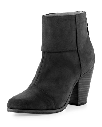 Newbury Nubuck Ankle Boot, Black
