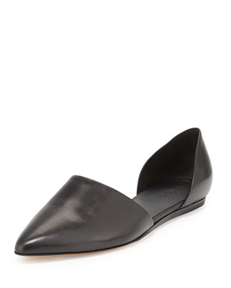 Nina Two-Piece d'Orsay Skimmer Flat, Black