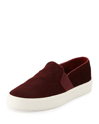 Berlin Calf Hair Skate Shoe, Oxblood