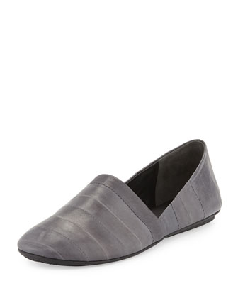 Bogart Eelskin Flat Slip-On, Graphite