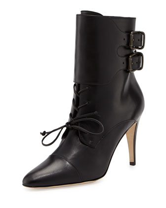 Secunda Lace-Up Ankle Boot, Black