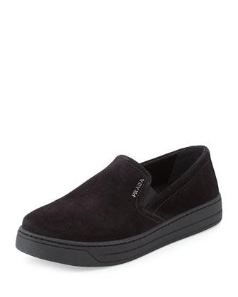 Suede Skate Shoe, Nero