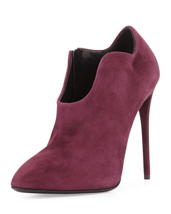 Suede Modified Western Bootie