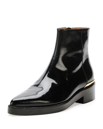 Point-Toe Calfskin Chelsea Boot, Coal