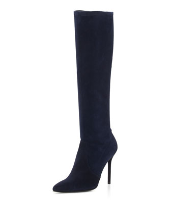 Benefit Stretch Suede Boot, Nice Blue