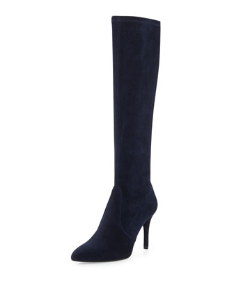 Jefe Stretch Suede Boot, Nice Blue