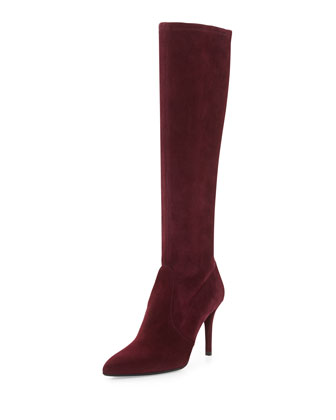 Jefe Stretch Suede Boot, Bordeaux