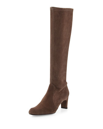 Chicboot Stretch Suede Boot, Funghi