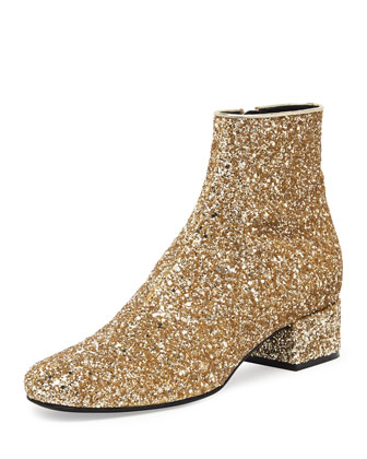 Mod Glitter Ankle Boot, New Platine