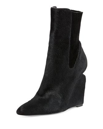 Andie Calf Hair Wedge Boot